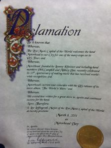 Motorhead Day proclamation from the City of Austin Mayor