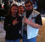 Eric AK and I being photo-bombed by Mike Gilbert