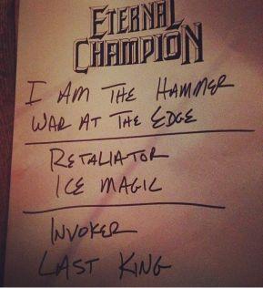 Eternal Champion setlist
