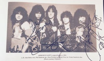 Armored Saint in The Book. RIP Dave