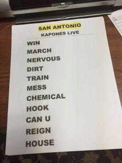 Armored Saint setlist