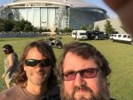 Pablo and Monkey Boy in front of Jerry World.