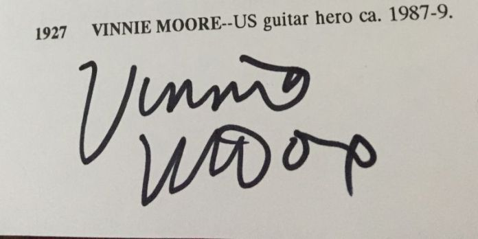 Vinnie Moore in the Book
