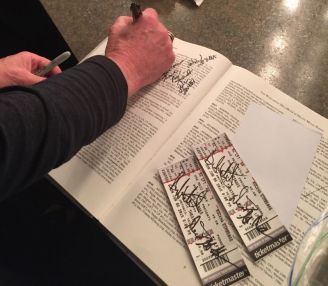 Brad signs The Book