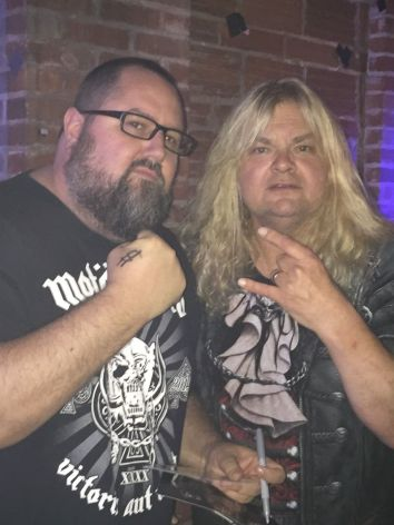 Monkey Boy and Steve Grimmett