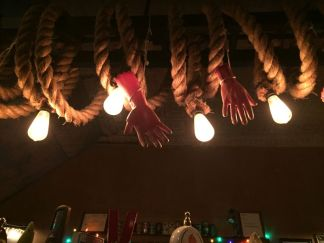 Above the bar at Boot & Saddle