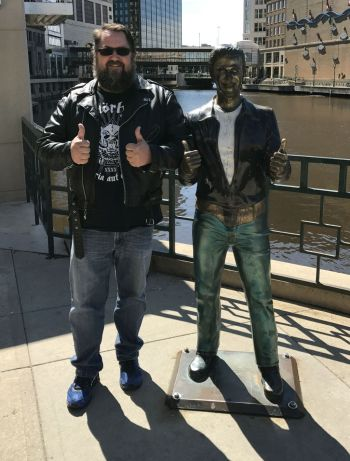 The Bronze Fonz and Monkey Boy