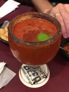 Tasty michelada at Taquieria Tipatitlan. The tacos were average at best.