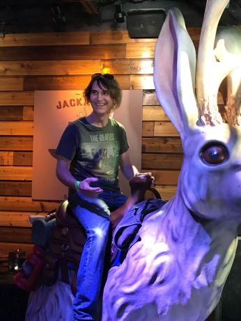 Ken rides the jackalope